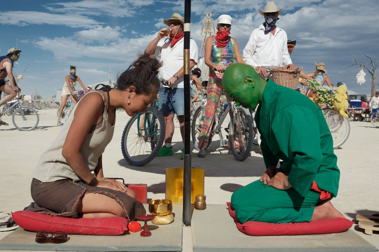Tea ceremony at Burning Man 2007